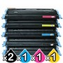 5 Pack HP C9720A-C9723A (641A) Compatible Toner Cartridegs [2BK,1C,1M,1Y]