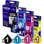 4 Pack Genuine Brother LC-38 Ink Combo [BK+C+M+Y]