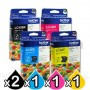 5 Pack Genuine Brother LC-40 Ink Combo [2BK+C+M+Y]