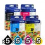 20 Pack Genuine Brother LC-40 Ink Combo [5BK+5C+5M+5Y]