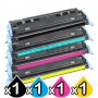 4 Pack HP Q6000A-Q6003A (124A) Compatible Toner Cartridges [1BK,1C,1M,1Y]