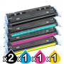 5 Pack HP Q6000A-Q6003A (124A) Compatible Toner Cartridges [2BK,1C,1M,1Y]