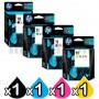 4 Pack HP 10 + 11 Genuine Inkjet Cartridges C4844AA+C4836AA-C4838AA [1BK,1C,1M,1Y]