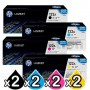 2 sets of 4 Pack HP Q3960A-Q3963A (122A) Genuine Toner Cartridges [2BK,2C,2M,2Y]