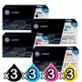 3 sets of 4 Pack HP Q6000A-Q6003A (124A) Genuine Toner Cartridges [3BK,3C,3M,3Y]