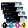 4 Pack HP CC530A-CC533A (304A) Genuine Toner Cartridges [1BK,1C,1M,1Y]