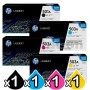 4 Pack HP Q6470A-Q7583A (501A/503A) Genuine Toner Cartridges [1BK,1C,1M,1Y]