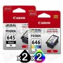 4-Pack Canon PG-645XL, CL-646XL Genuine [2Black +2Colour] High Yield Ink Combo