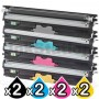 2 sets of 4 Pack OKI C110/C130n Compatible Toner Cartridges (44250705-44250708)