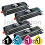 4 Pack HP Q3960A-Q3963A (122A) Compatible Toner Cartridges [1BK,1C,1M,1Y]