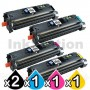 5 Pack HP Q3960A-Q3963A (122A) Compatible Toner Cartridges [2BK,1C,1M,1Y]