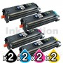 2 sets of 4 Pack HP Q3960A-Q3963A (122A) Compatible Toner Cartridges [2BK,2C,2M,2Y]