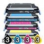 3 sets of 4 Pack HP Q6470A-Q6473A (501A/502A) Compatible Toner Cartridges [3BK,3C,3M,3Y]