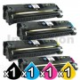 4 Pack HP C9700A-C9703A (121A) Compatible Toner Cartridges [1BK,1C,1M,1Y]