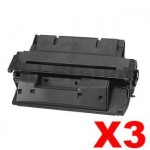 3 x HP C4127X (27X) Compatible Black Toner Cartridge - 10,000 Pages