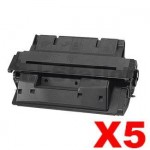 5 x HP C4127X (27X) Compatible Black Toner Cartridge - 10,000 Pages