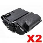 2 x HP Q1338A (38A) Compatible Black Toner Cartridge - 12,000 Pages