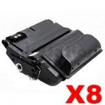 8 x HP Q1338A (38A) Compatible Black Toner Cartridge - 12,000 Pages