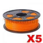 5 x ABS 3D Filament 1.75mm Orange - 1KG