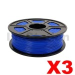 3 x ABS 3D Filament 1.75mm Blue - 1KG