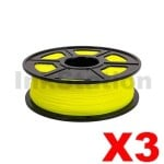 3 x ABS 3D Filament 1.75mm Yellow - 1KG