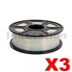3 x PA(Nylon) 3D Filament 1.75mm Transparent - 1KG