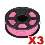 3 x ABS 3D Filament 1.75mm Pink - 1KG