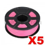 5 x ABS 3D Filament 1.75mm Pink - 1KG