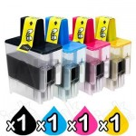 4 Pack Brother Compatible LC-47 Inkjet Combo [1BK,1C,1M,1Y]