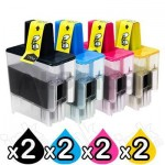 2 Sets of 4 Pack Brother Compatible LC-47 Inkjet Combo [2BK,2C,2M,2Y]