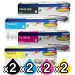 2 sets of 4-Pack Brother TN-251 Genuine Toner Combo [2BK,2C,2M,2Y]