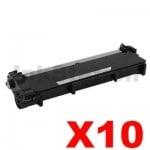 10 x Dell E310, E514, E515 Compatible Black Toner Cartridge - 2,600 pages