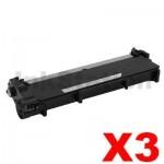 3 x Dell E310, E514, E515 Compatible Black Toner Cartridge - 2,600 pages
