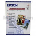 Epson S041334 Genuine Premium Semigloss Photo Paper 250gsm A3 - 20 sheets