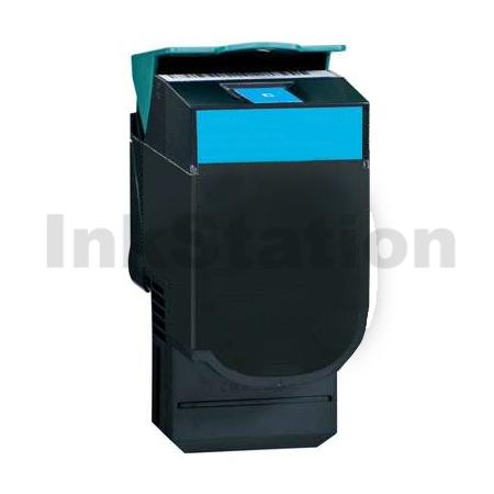 Lexmark (C540H1CG) Compatible C540 / C543 / C544 / C546 / X543 / X544 / X546 Cyan HY Toner - 2,000 pages