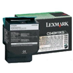 1 x Lexmark (C540H1KG) Genuine C540 / C543 / C544 / C546 / X543 / X544 / X546 Black HY Toner Cartridge - 2,500 pages