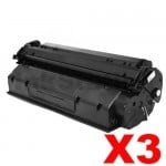3 x HP C7115A (15A) Compatible Black Toner Cartridge - 2,500 Pages