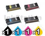 4 Pack Lexmark Compatible C734 / C736 / X734 / X736 / X738 Toner Cartridges - Black 8,000 pages & CMY 6,000 pages