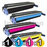 4 Pack HP C9730A-C9733A (645A) Compatible Toner Cartridges [1BK,1C,1M,1Y]