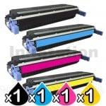 4 Pack HP C9730A-C9733A (645A) Compatible Toner Cartridges [1BK,1C,1M,1Y]
