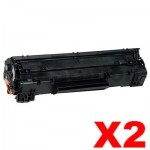 2 x Canon CART-313 Black Compatible Toner Cartridge 2,000 Pages
