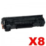8 x Canon CART-313 Black Compatible Toner Cartridge 2,000 Pages