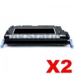 2 x Compatible Canon MF8450C (CART-317BK) Black Toner Cartridge - 6,000 pages