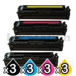 3 sets of 4 Pack Compatible Canon CART-418 Toner Cartridges [3BK,3C,3M,3Y]