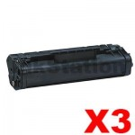 3 x Canon FX-3 Black Compatible Toner Cartridge - 2,700 pages