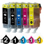 6-Pack Canon PGI-520, CLI-521 Compatible Inkjet (with Chip) [2BK,1PBK,1C,1M,1Y]