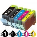5-Pack Canon PGI-5BK, CLI-8BK/C/M/Y Compatible Inkjet (with Chip) [1BK,1PBK,1C,1M,1Y]