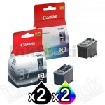 4 Pack Genuine Canon PG-37 CL-38 Ink Cartridges [2BK,2C]