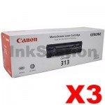 3 x Canon CART-313 Black Genuine Toner Cartridge 2,000 Pages
