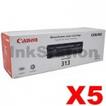 5 x Canon CART-313 Black Genuine Toner Cartridge 2,000 Pages